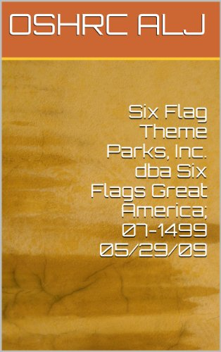 six-flag-theme-parks-inc-dba-six-flags-great-america-07-1499-05-29-09-english-edition