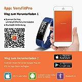 Mpow Fitness Armband mit Pulsmesser,Wasserdicht IP67 Smartwatch Fitness Uhr Pulsuhren Fitness Tracker Aktivitätstracker Schrittzähler Uhr für Damen Herren Anruf SMS Beachten für iPhone Android Handy - 9