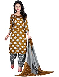 Taboody Empire Forever Yellow Satin Cotton Handi Crafts Bandhani Work With Straight Salwar Suit For Girls And...