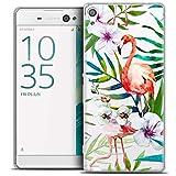 Caseink - Coque Housse Etui pour Sony Xperia XA Ultra 6 [Crystal Motif HD Collection Watercolor Design Tropical Flamingo - Rigide - Ultra Fin - Imprimé en France]