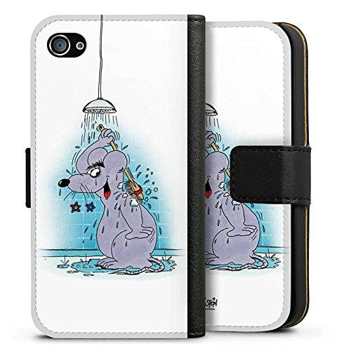 Apple iPhone X Silikon Hülle Case Schutzhülle Uli Stein Fanartikel Merchandise Maus Sideflip Tasche schwarz