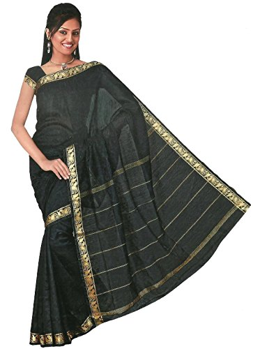 Trendofindia Bollywood Sari Kleid Regenbogen Schwarz