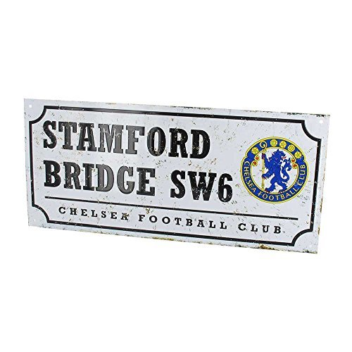 Chelsea Stamford Bridge Retro Street Sign by Chelsea F.C.