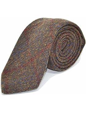 Corbata con recuadros clásicos marrón tierra