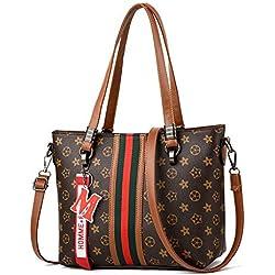 LFGCL Sacs femmesSacs à Main élégant et Minimaliste Sac à bandoulière Dames big Bag, Old Flower Brown