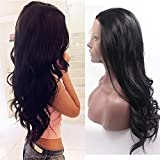 Fennell Lace Wig Long Body Wave Lace Front Wig Synthetic Black Wigs Heat