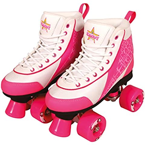Kandy Skates Pattini pattini Disco Roller pattini quad Retro Bambini, Strawberry Kisses, 37