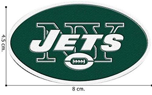 Patch-new Auf York Eisen (Aufnäher / Aufbügler, Motiv: New York Jets Logo NFL, bestickt 7,6cm, zum Aufnähen oder zum Aufbügeln)
