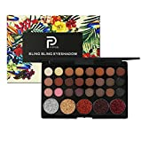 ROMANTIC BEAR 29 Farben Matt Glitzer Lidschatten Palette,Soft Texture Long Lasting Eyeshadow Makeup (Brauntöne)