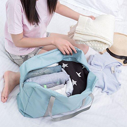 West See Duffle Bag Sporttaschen Reise-Gepäck Leicht Wasserdichte Reise Handtasche Faltbar Packbar Schulter Organizer Aufbewahrung Tragen Tasche Für Gym Sport Camping (Denkelblau) Hellblau