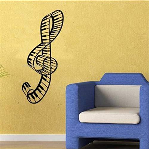 ion Wall Paper Amp Kunst Viny Abnehmbare Aufkleber Music Keyboard Größe 40 * 100 Cm ()