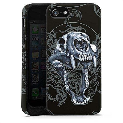 Apple iPhone X Silikon Hülle Case Schutzhülle Puma Totenkopf Pumakopf Tough Case matt
