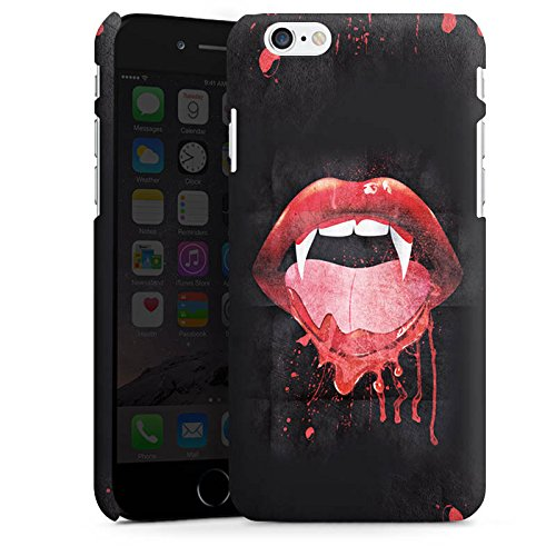 Apple iPhone X Silikon Hülle Case Schutzhülle Vampir Fangzahn Mund Premium Case matt