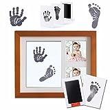 """MCREE tinte pad für baby - fußabdrücke handabdrücken fingerabdrücke kit, keinen direkten kontakt mit ink-1 große tinte pad und """" + 2 karten foto - grooves, weiter wertvolle erinnerung für baby - party (Der Stil - 5, Schwarz)"""