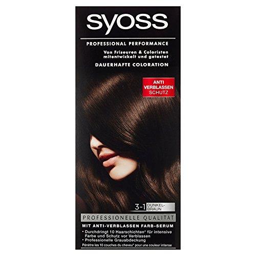 Syoss Coloration Stufe 3, 3-1 Dunkelbraun, 115 ml