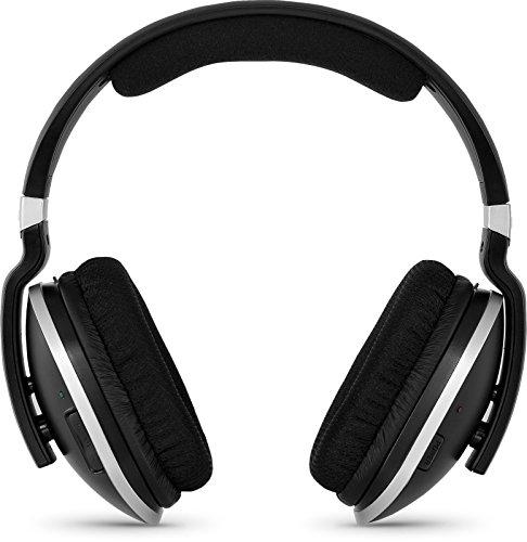 TechniSat StereoMan 2 kabelloser 2,4GHz Funkkopfhörer (für Fernseher und Musikanlagen mit Dockingstation) schwarz
