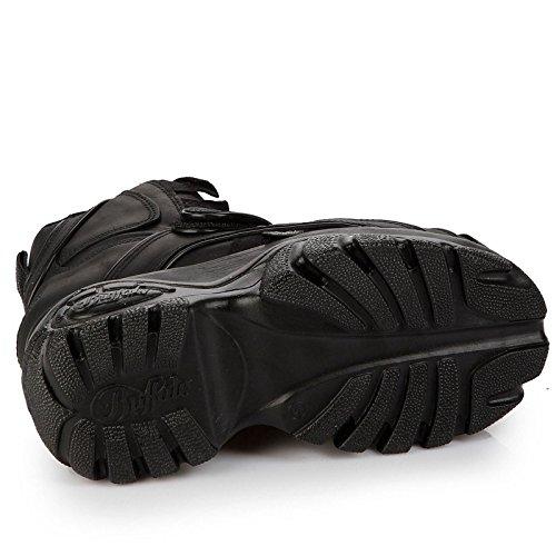 Buffalo Mens 1348-14 Leather Boots Noir