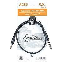 Eagletone AC85 Mini Jack Mono Patch Cable 50cm Negro 6.35