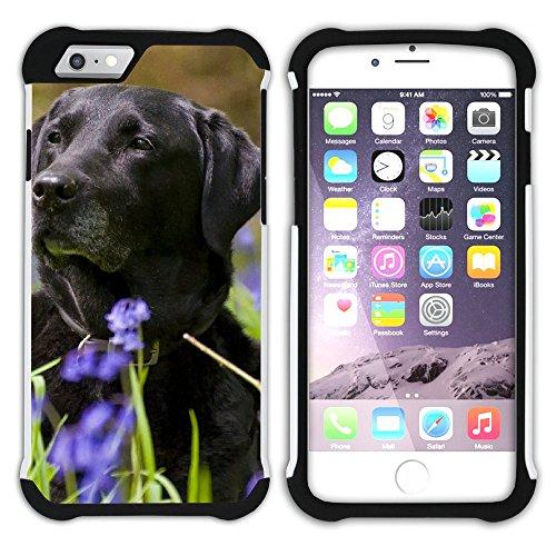 Graphic4You Labradorhund Labrador Retriever Hund Hündchen Tier Hart + Weiche Kratzfeste Hülle Case Schale Tasche Schutzhülle für Apple iPhone 6 Plus / 6S Plus Design #14
