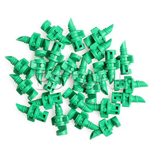 Manyo 25 Stück Micro Bewässerung Tropfentropfen, automatische Bewässerung für Garten - 360°-Sprühkopf, Mikrodüsen, Sender für Pflanzen, Gewächshaus