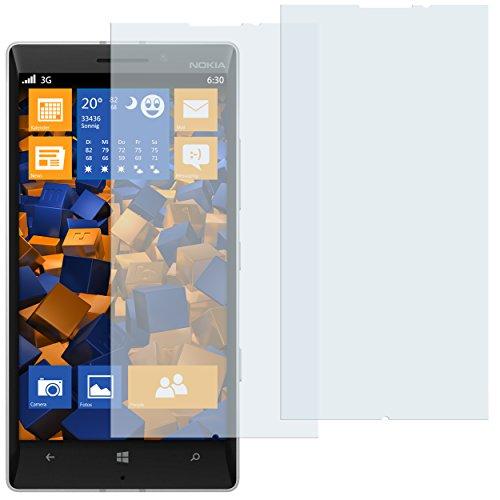 mumbi Schutzfolie kompatibel mit Nokia Lumia 930 Folie klar, Bildschirmschutzfolie (2x)