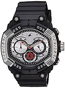 Fastrack Chronograph Silver Dial Men's Watch - 38006PP01