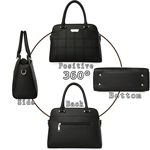 (G-AVERIL) moda faux della borsa del cuoio della borsa grande tote per le donne Vino rosso
