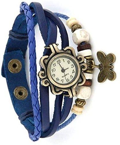 KOKO Vintage Butterfly Analog Beige Women's watch (butterfly10)