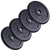 ScSPORTS 20 kg Hantelscheiben-Set Gusseisen 4 x 5 kg Gewichte 30/31 mm Bohrung