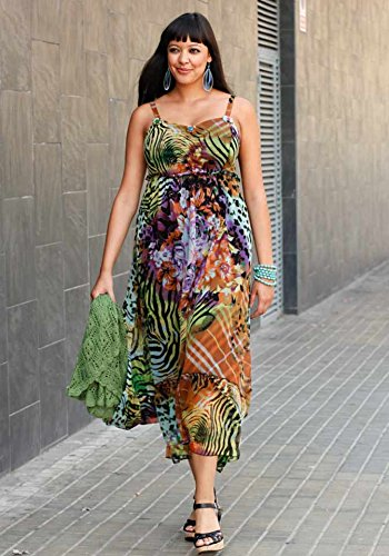Sheego - Robe - Taille empire - Opaque - Femme Multicolore Multicolore Multicolore