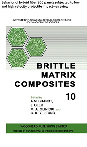 Brittle Matrix Composites: Behavior of hybrid fiber ECC panels subjected to low and high velocity projectile impact-a review (English Edition) -