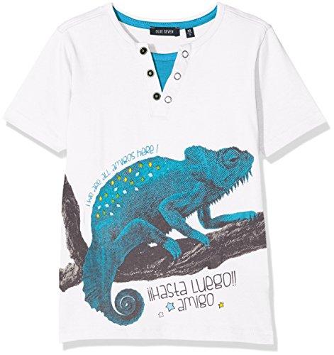 Blue Seven Jungen T-Shirt Rundhals, Weiß (Weiss 001), 92