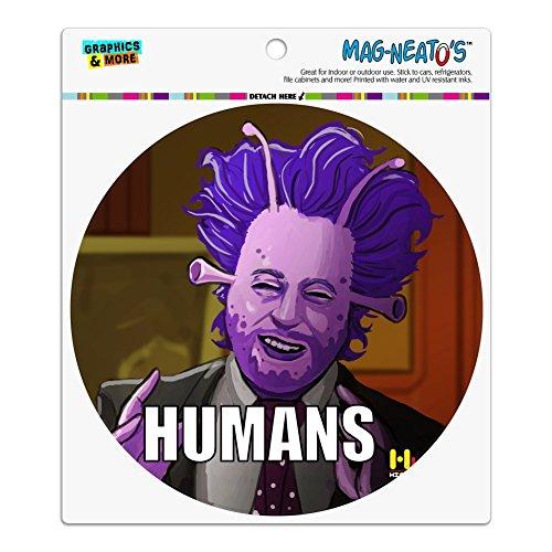 Echthaar Aliens Guy Geschichte Meme Automotive Car Kühlschrank Locker Vinyl Kreis Magnet