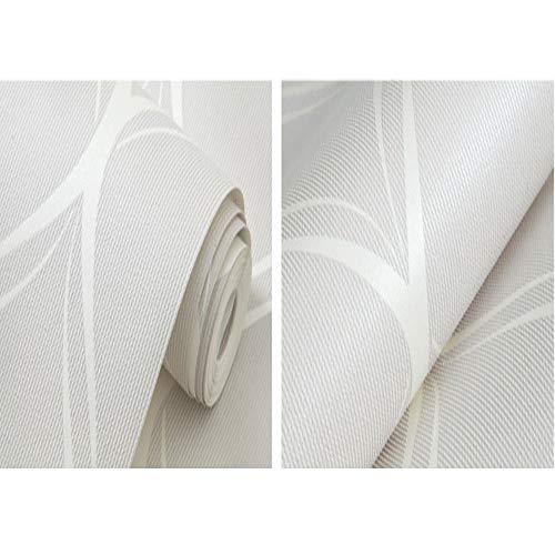 ZSLLO Beige, Weiß, Grau Moderne Tapete Für Schlafzimmer Wände Wohnzimmer Tapeten Rollen Geometrische Wand Papier Home Decor Wallpaper (Farbe : Light Gray)