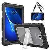 TiMOVO Samsung Galaxy Tab A 10.1 Funda - Shockproof Híbrido Resistente Smart Cover Case para Samsung Galaxy Tab A 10.1 Pulgada 2016 (SM-T580/T585), Negro y Transparente