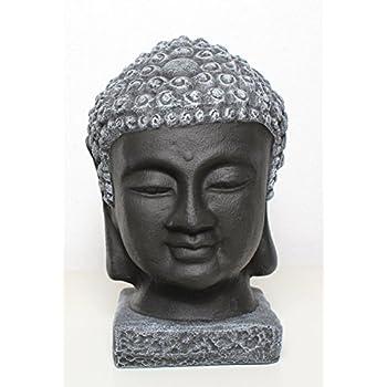 buddha kopf statue stein schwarz schiefergrau. Black Bedroom Furniture Sets. Home Design Ideas