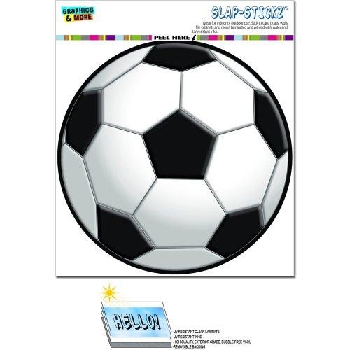 Fußball–Kreis Slap-Stickz Aufkleber Automotive Auto Fenster Spind Bumper Kofferraum Aufkleber (- Fussball-fenster-abziehbild)