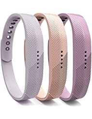 Cyeeson 3PC Fitbit Flex 2 Armband Weiche Silikon Adustable Armband Strap Replacement Watch Band für Fitbit Flex 2