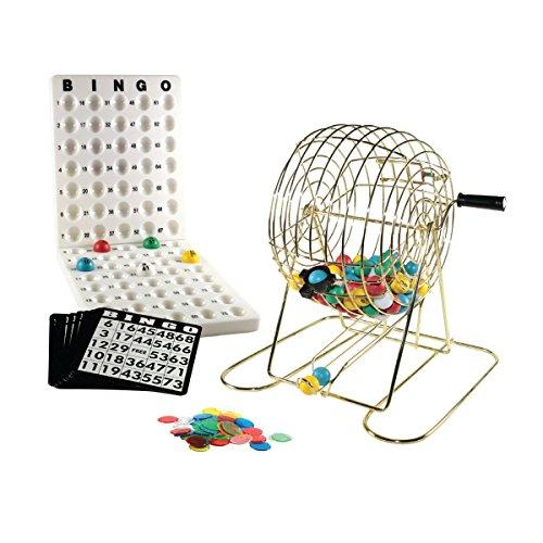 Löwe Spiele & Gifts Europa 1000621cm Metall Cage Bingo Set (Bingo-käfig Set)