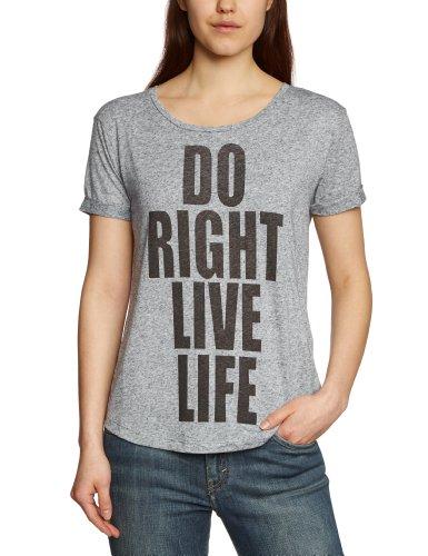 Selected Femme - T-shirt - Manches 1/2 - Femme Gris (Medium Grey Melange)