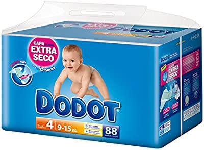 Dodot - Pañales infantiles, talla 4, 8-14 kg, hasta 12h seco - 88 unidades