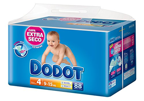Dodot-Pannolini per bambini, taglia 4, da 9 a 15 kg a secco-12h-88 pezzi