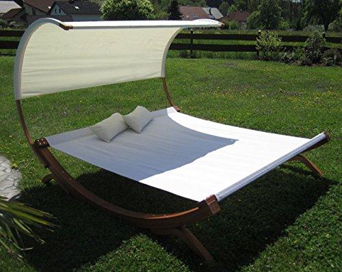 XXL Sonnenliege Doppelliege Gartenliege Hängematte Doppel Liege Gartenmöbel extrabreit für 2 Personen Modell SAONA von AS-S - 4