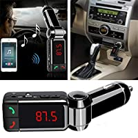 Mini Bluetooth Car Kit MP3 Player with Handsfree FM Transmitter SD USB ChargerFor iPhone Samsung