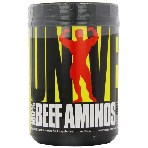 51zsb59NjLL. SS500  - Universal Nutrition 100% Beef Aminos Capsules Pack of 400