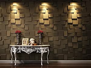 3D Wandpaneel Rubik Revêtement mural décoratif design en fibre de bambou et canne à sucre