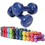 Vinyl Hantel Paar Ideal für Gymnastik Aerobic Pilates 0,5 kg – 10 kg | Kurzhantel Set in versch. Farben (2 x 4 kg)