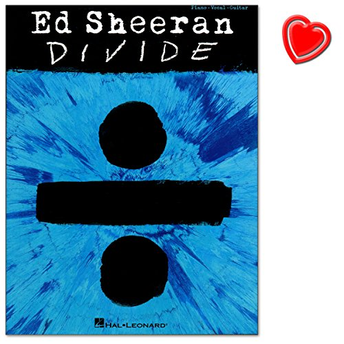 Hal leonard europe, hl00233553–9781495093654 – spartito con i pezzi del terzo album di ed sheeran, divide, inclusa clip a forma di cuore colorato