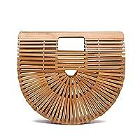Bamboo basket bag explosion handmade straw bag female woven bamboo Fashion Tote Bag-small[zZ]