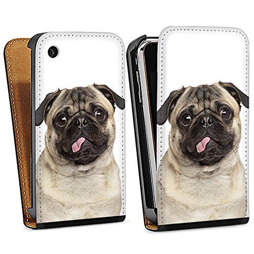 Apple iPhone 5 Housse Outdoor Étui militaire Coque Carlin Chiot Chien Sac Downflip noir